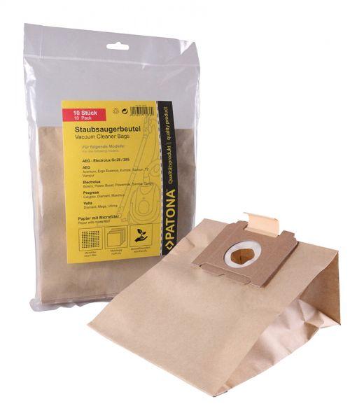 10 Staubsaugerbeutel Papier für AEG Gr. 28
